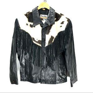 VTG pioneer wear cow hide tassel jacket 44